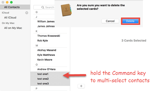 How to Delete Multiple Contacts on iPhone on Mac