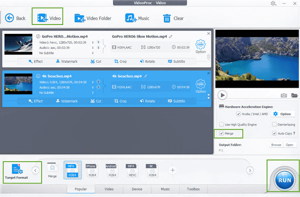 Mix Videos and Audio Files into a Video