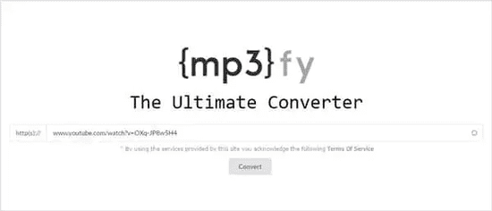 MP3FY is another powerful tool for the conversion of the files from any type to MP3.