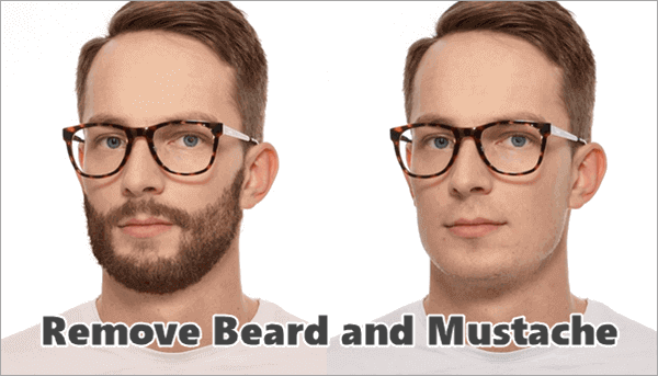 Remove Beard and Mustache from Photos