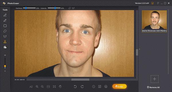 Remove Beard from Photos Using Jihosoft Photo Eraser