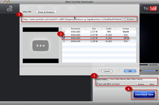 Macx YouTube Downloader is available free of charge to solve the problem of not functioning savevid.