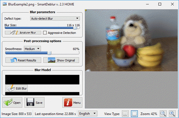 SmartDeblur is one of the amazing photo editing programs to fix blurry photos in one go.