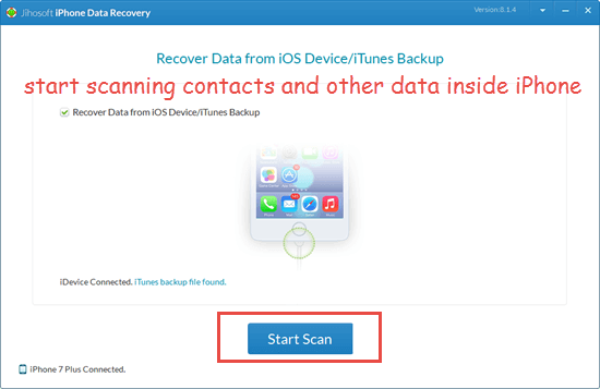 Transfer iPhone Contacts to Mac via Jihosoft iPhone Data Recovery