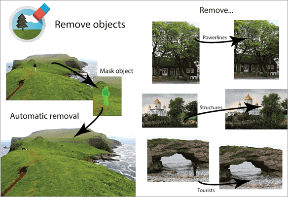 Here are the process to remove unwanted objects with the use of TouchRemove
