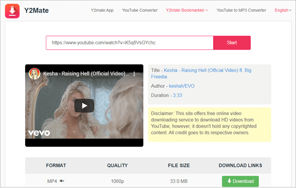 With Y2mate, you can easily download and convert YouTube videos to M4A