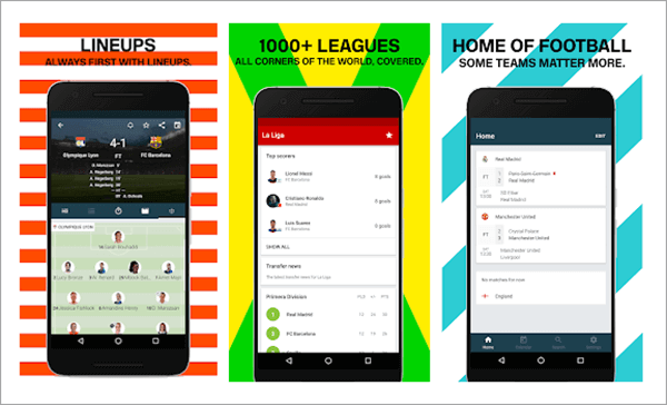 With the support of many leagues, this is another great app for you to catch up to European football.