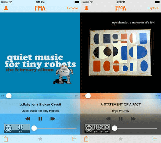 The Free Music Archive (FMA) may not be a well-known music download app.