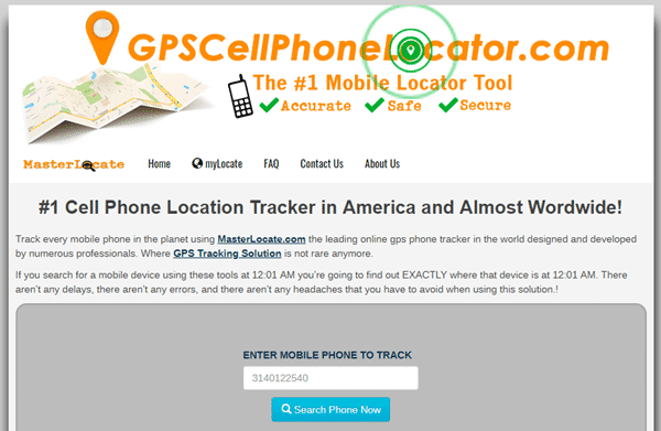 GPS Cell Phone Locator also renders free tracking service for phone numbers.