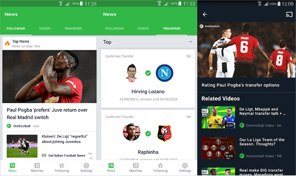Are you looking for one app which will consist of National or Club matches which you want to follow?