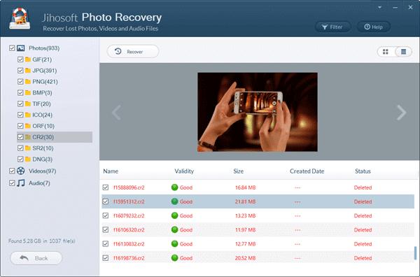Recover CR2 Photos from Canon Camera