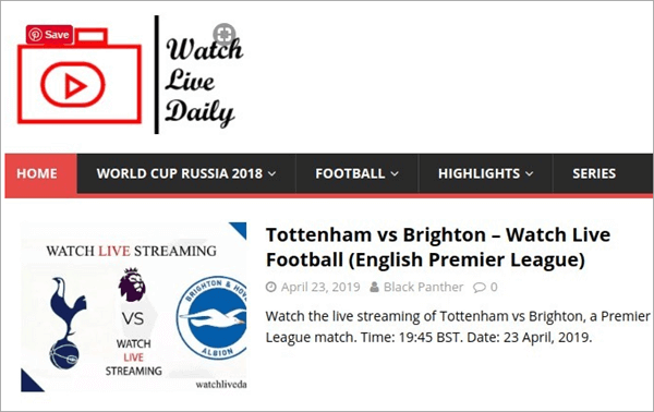 Watch Live Daily is a website designed to watch all the top football leagues.