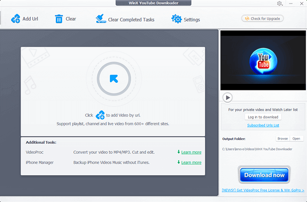 WinX YouTube downloader is safe and reliable without any plugin or annoying ads.