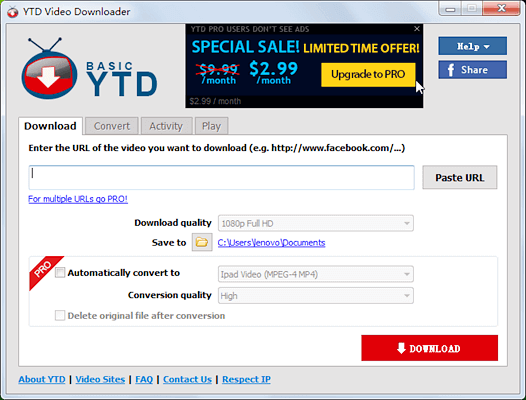 YTD is a computer-based YouTube video downloader, compatible with Windows XP/Vista/ 7/8/10 operating systems.