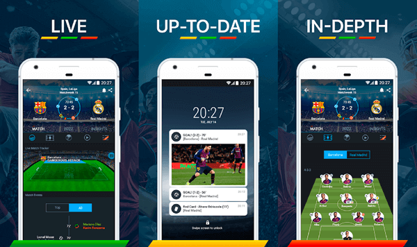 365Scores is a complete package of scores, highlights, ranking and other analysis of sports.