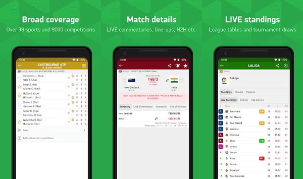 FlashScore is best sports streaming app for Android.