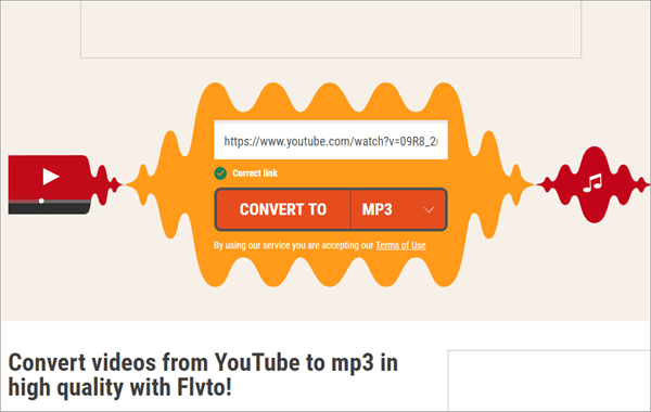 Last but not least, FLVTO is a simple but powerful tool for converting URL to MP3 without any hassle.