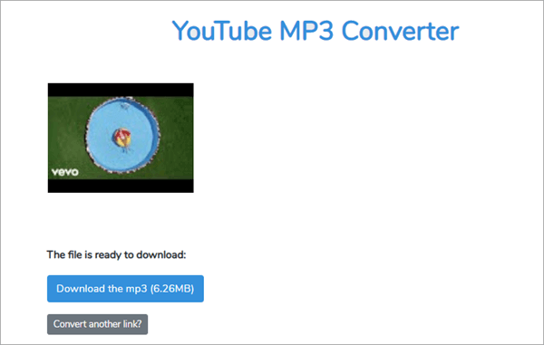 Grab MP3 is an online website that help you convert any video to MP3 format.