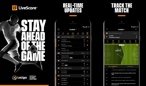 LiveScore is the ideal app for every sports fan, where you can find the latest scores and live sports events.