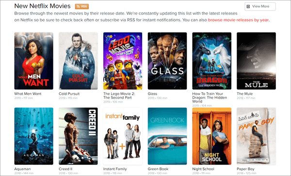 NetflixMovies is a website containing many movies and TV shows which can be accessed online.