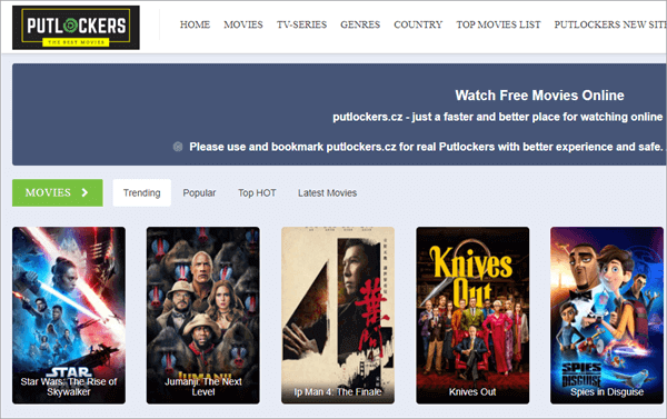 Putlocker.cz is widely known for movie/TV show streaming and downloading.