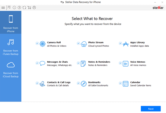 Stellar Data Recovery for iPhone is another widely used iPhone data recovery software.