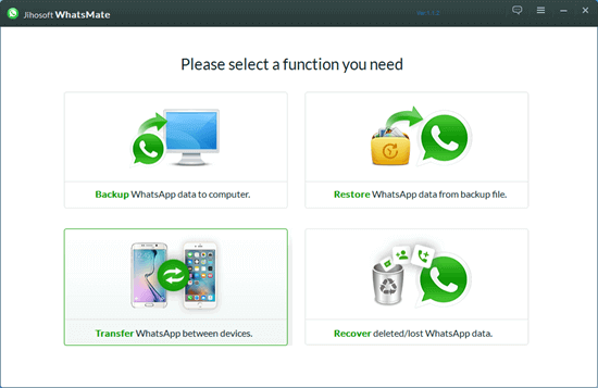 One Click to Transfer WhatsApp Chats from Android to iPhone.