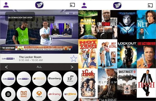 YipTV is completely similar to sports channels on the TV which streamed using smartphones.