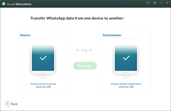 The following steps will tell you how to transfer WhatsApp from Android to iPhone and vice versa