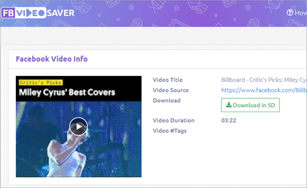 FBvideo Saver is a reliable online video downloader for Facebook.