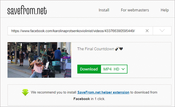 Savefrom.net is the most widely used online video downloader.