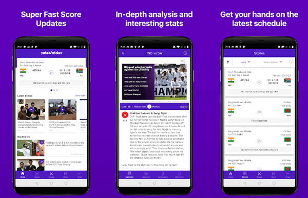 As the name suggests, Yahoo! Cricket App was developed by Yahoo and is maintained by it as well.