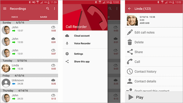 This is one of the best and most popular call recorder apps that are available on the Google Play Store.