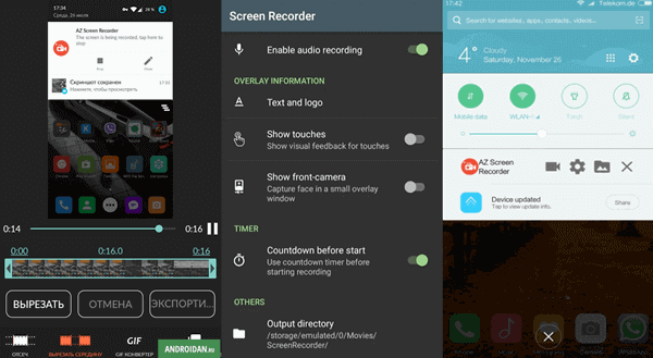 AZ Screen Recorder is another recommended WhatsApp video call recorder for Android.
