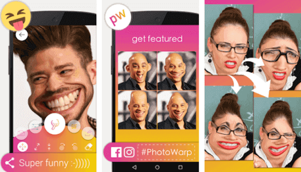 By using Photo Warp, you can make your thin friend look like a buff wrestler or vice versa.