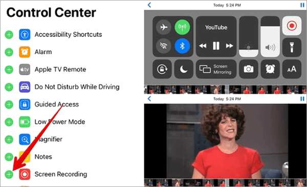 Record Your Screen to download YouTube videos to iPhone/iPad Camera Roll.