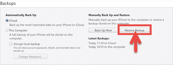 Retrieve Data from Locked/Disabled iPhone with Backup
