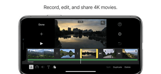 iMovie from the house of Apple is the best video editing app to be in the limelight.