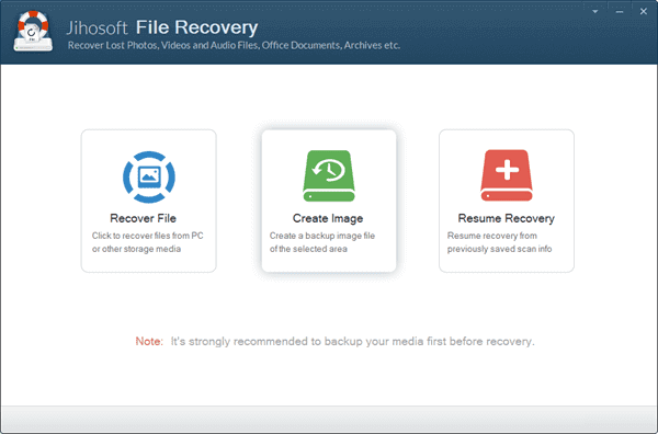 Steps to Create Image Backup with Jihosoft File Recovery