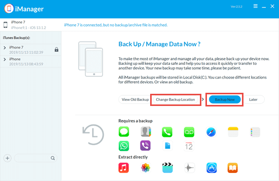 Create Archived Backup on PC without iTunes