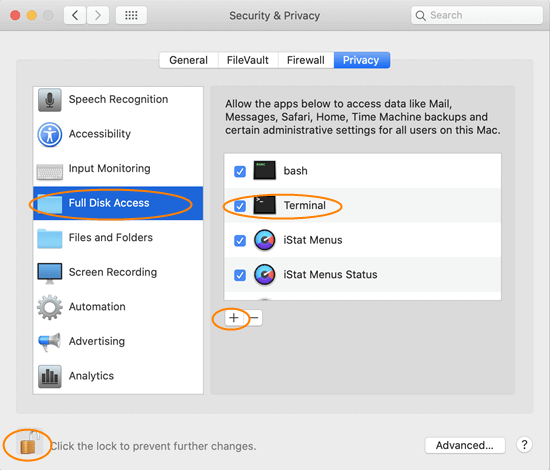 Enable Full Disk Access for Terminal in macOS Mojave or Above.