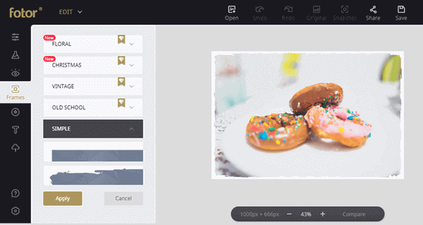 Fotor is another online resource to add frames to your photos and do a whole lot of other stuff.