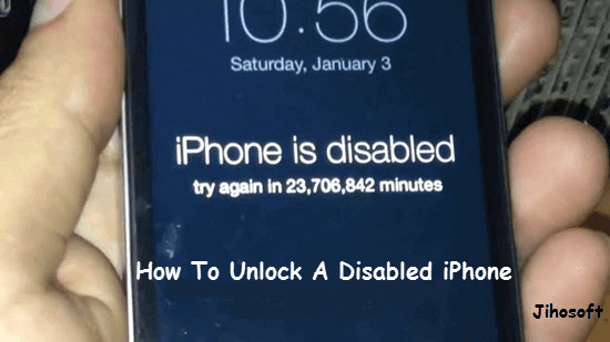 How to Unlock Disabled iPhone