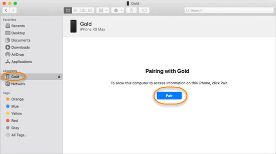 Backup iPhone/iPad to Mac with Finder.