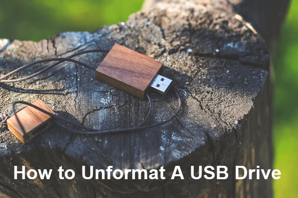 Unformat USB Drive.