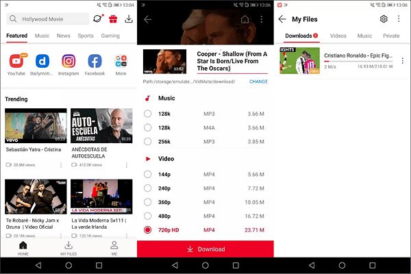 Use VidMate to Download Music from YouTube for Offline Listening