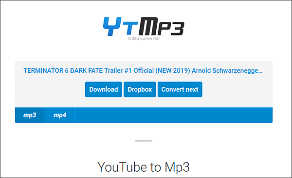 YtMP3 is an excellent online YouTube audio downloader.