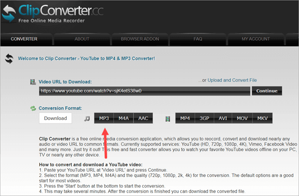 Clip Converter is a browser-based tool that provides multiple conversion services