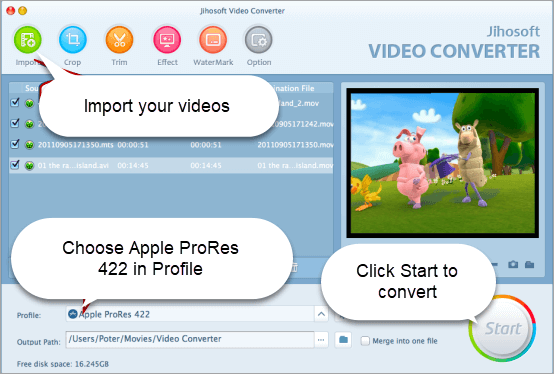 Convert Videos into Supported Final Cut Pro Files