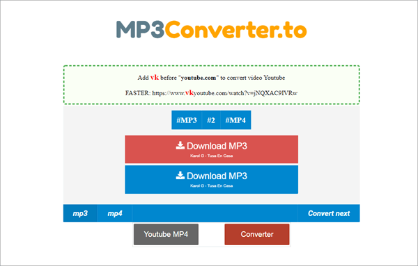 Similar to Y2MP3, MP3Converter.to is another leading YouTube to MP3 converter online.